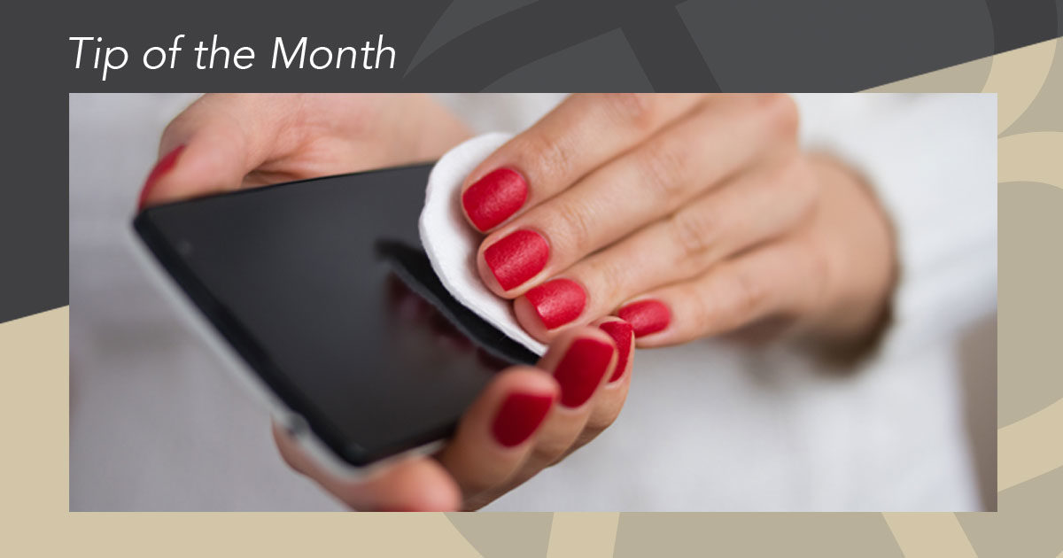 Beverly Hills plastic surgery tip of the month - dirty cell phone